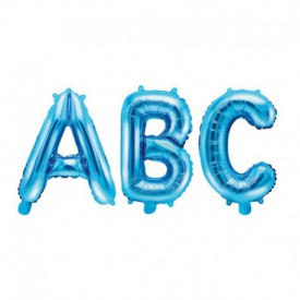 SMALL MYLAR FOIL LETTER BALLOON – BLUE