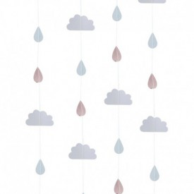 CURTAIN – CLOUDS AND RAINDROPS
