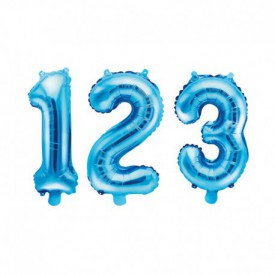 SMALL NUMBERED BIRTHDAY BALLOON – BLUE