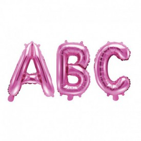 SMALL MYLAR FOIL LETTER BALLOON – PINK