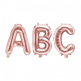 SMALL MYLAR FOIL LETTER BALLOON – ROSE GOLD