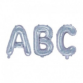 SMALL MYLAR FOIL LETTER BALLOON – HOLOGRAPHIC