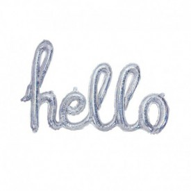 MYLAR FOIL HELLO BALLOON – HOLOGRAPHIC