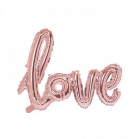 MYLAR FOIL LOVE BALLOON – ROSE GOLD