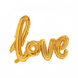 MYLAR FOIL LOVE BALLOON – GOLD