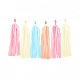 TASSEL GARLAND – MIXED PASTELS