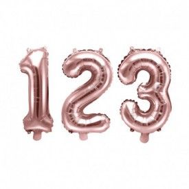 SMALL NUMBERED BIRTHDAY BALLOON – ROSE GOLD