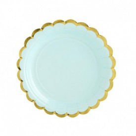 6 PLATES – MINT AND GOLD