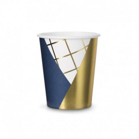 6 CUPS – DARK BLUE AND GOLD