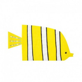 "16 ""FISH"" SERVIETTES – YELLOW"
