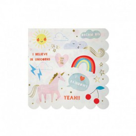 "16 ""UNICORN"" SERVIETTES – RAINBOW"