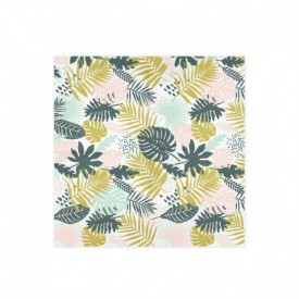 "20 ""TROPICAL LEAVES"" SERVIETTES – MULTICOLOURED"