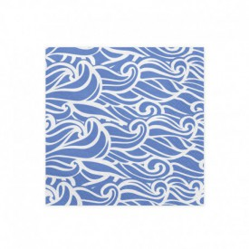 "20 ""WAVE"" SERVIETTES – BLUE"