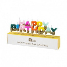 HAPPY BIRTHDAY CANDLE – MULTICOLOURED