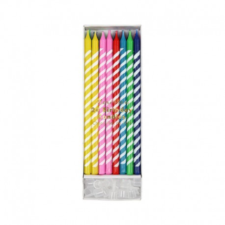 24 CANDLES – MULTICOLOURED