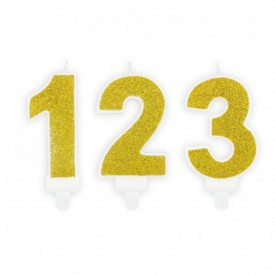 NUMBERED BIRTHDAY CANDLE – GOLD