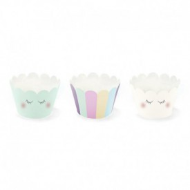 TRIO OF CUPCAKE LINERS – PASTEL