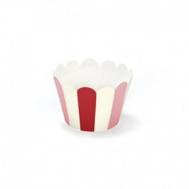 6 CUPCAKE LINERS – RED AND PINK