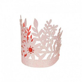 "8 ""FLOWER"" CROWNS – PINK"
