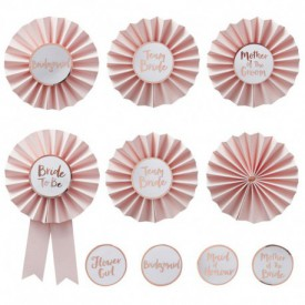 "6 ""BACHELORETTE"" BADGES – PERSONALISABLE"