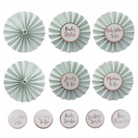 "6 ""BABY SHOWER"" BADGES – PERSONALISABLE"
