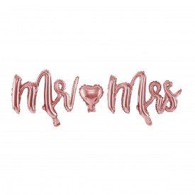 MYLAR FOIL MR & MRS BALLOON – ROSE GOLD