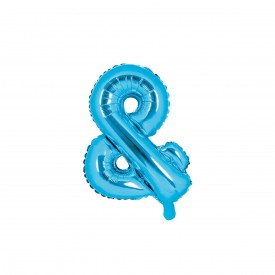 "SMALL MYLAR FOIL ""&"" BALLOON – BLUE"
