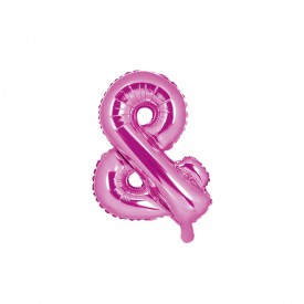 "SMALL MYLAR FOIL ""&"" BALLOON – PINK"