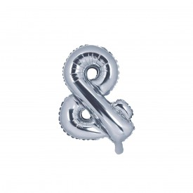 "SMALL MYLAR FOIL ""&"" BALLOON – SILVER"