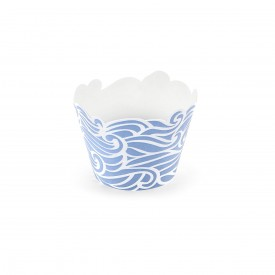 "6 ""WAVE"" CUPCAKE LINERS – BLUE"