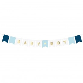 BABY-BOY BANNER – BLUE AND GOLD