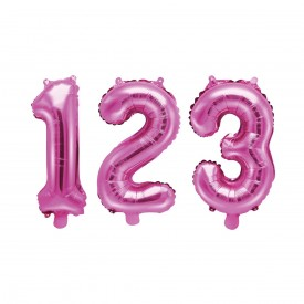 SMALL NUMBERED BIRTHDAY BALLOON – PINK