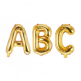 SMALL MYLAR FOIL LETTER BALLOON – GOLD