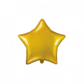 MYLAR FOIL STAR BALLOON – GOLD