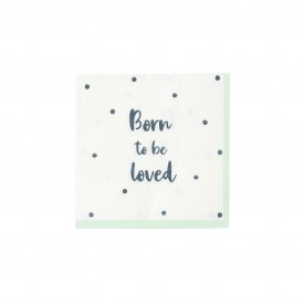 "20 ""BORN TO BE LOVED"" NAPKINS - PASTEL"