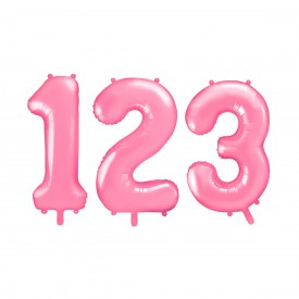 LARGE NUMBERED BIRTHDAY BALLOON – LIGHT PINK