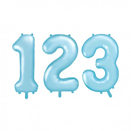 LARGE NUMBERED BIRTHDAY BALLOON – PASTEL BLUE