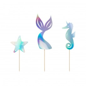 3 CAKE SKEWERS - MERMAID