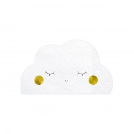 "20 ""CLOUD"" NAPKINS - WHITE"