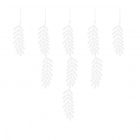 GARLAND FOLIAGE - WHITE