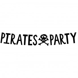 """PIRATES PARTY"" GARLAND - BLACK"