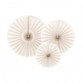 SET OF 3 ROSETTES – BEIGE