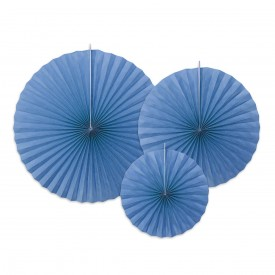 SET OF 3 ROSETTES - BLUE