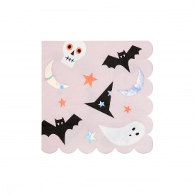 16 HALLOWEEN ICON NAPKINS - IRIDESCENT