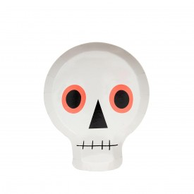 12 SKULL PLATES - WHITE AND NEON