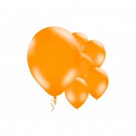 10 LATEX BALLOONS - ORANGE