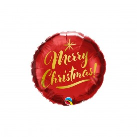 BALLON MYLAR ROND - MERRY CHRISTMAS