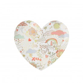 "8 LARGE ""LOVE"" PRINTED PLATES - PASTEL"