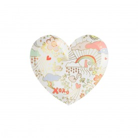 "8 SMALL ""LOVE"" PRINTED PLATES - PASTEL"