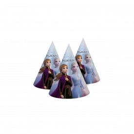 6 PAPER PARTY HATS - FROZEN 2
